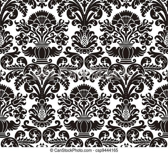 Papel tapiz de damasco - csp9444165