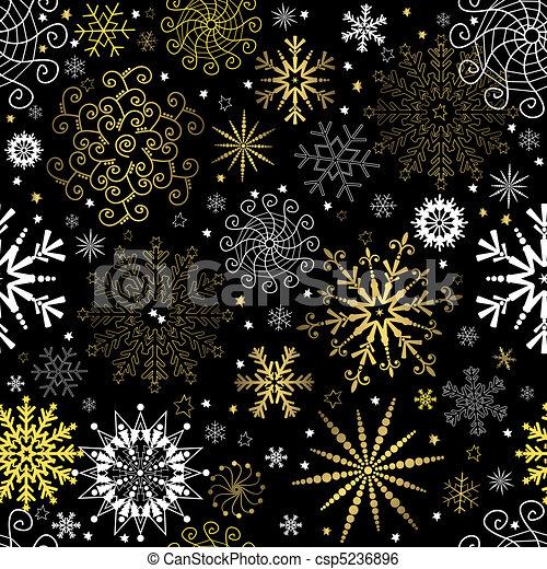 Papel pintado negro seamless navidad dorado copos de - Papel pintado negro ...
