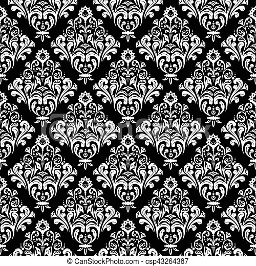 Trasfondo de empapelado de damasco - csp43264387