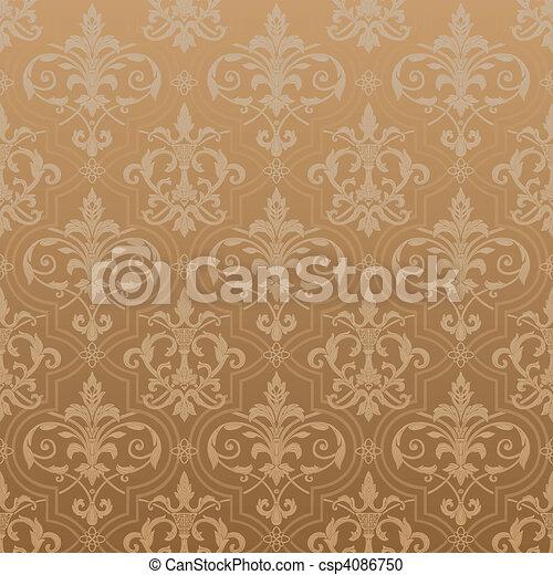 Papel tapiz de Damask sin costura - csp4086750