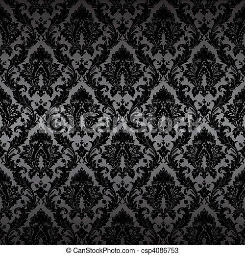 Papel tapiz de Damask sin costura - csp4086753