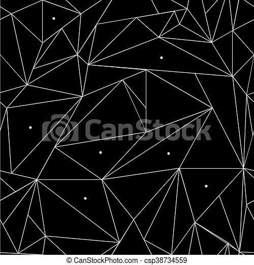 Un Simple Patron Geometrico Negro Y Blanco Minimalista Triangulos