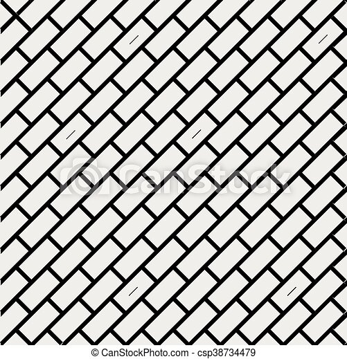 Un Simple Patron Geometrico Negro Y Blanco Minimalista Ladrillo