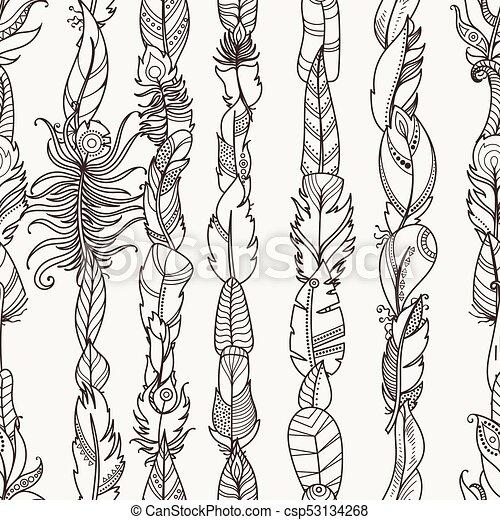 Papel pintado, tela, aleatorio, pauta tela, feathers., seamless ...