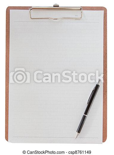 Clipboard con papel - csp8761149