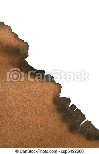 Papel quemado - csp5492600