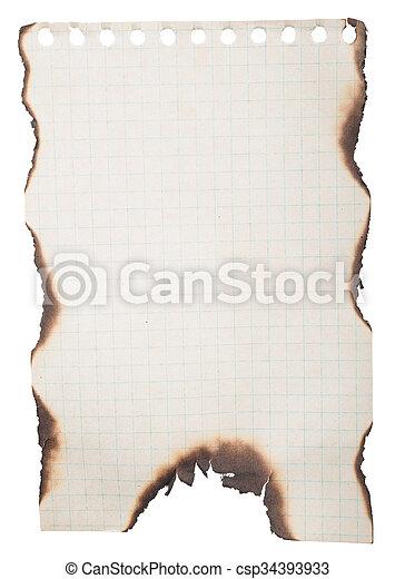 Papel quemado - csp34393933