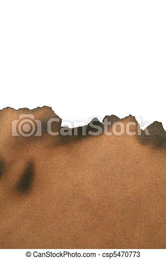 Papel quemado - csp5470773
