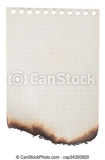 Papel quemado - csp34393920