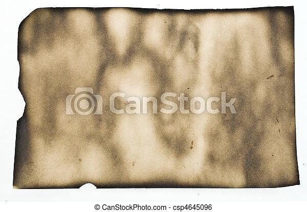 Papel quemado - csp4645096