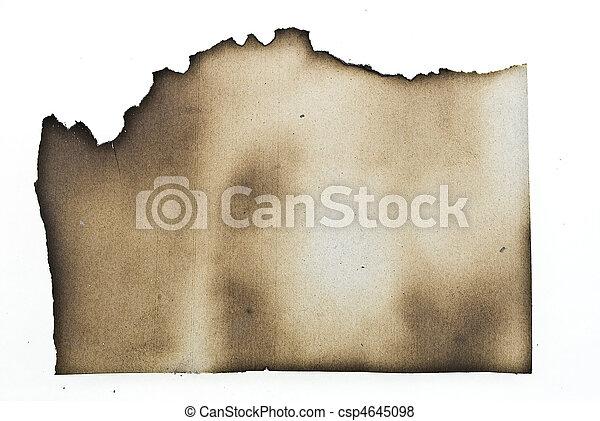 Papel quemado - csp4645098