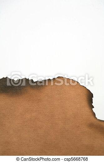 Papel quemado - csp5668768