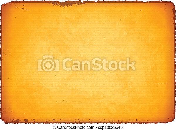 papel rasgado, envelhecido, bordas - csp18825645