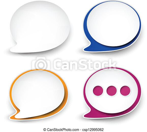 Una burbuja de discurso redondeada. - csp12995062