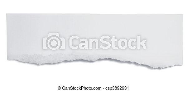 papel roto, bandera - csp3892931