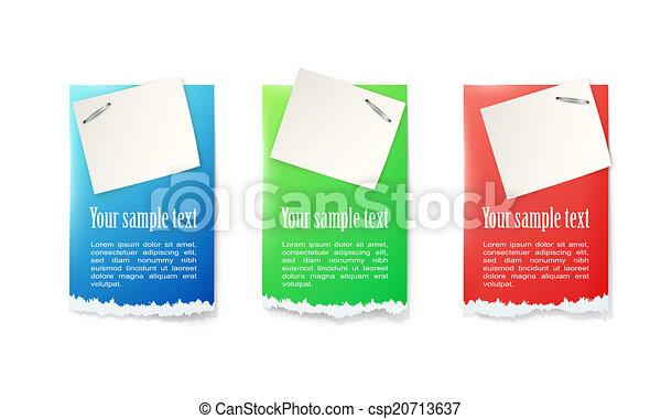 Pegatinas de papel - csp20713637