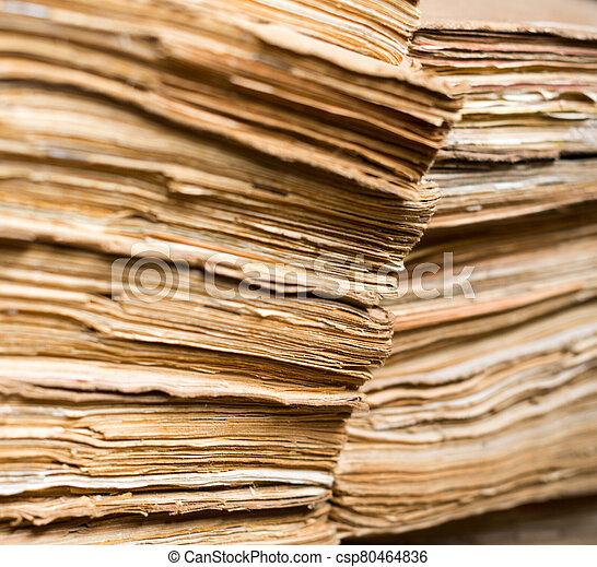 papel, viejo, archivo, documentos - csp80464836