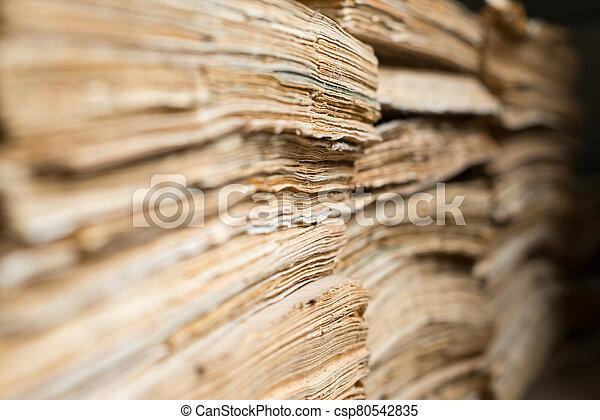 papel, viejo, archivo, documentos - csp80542835