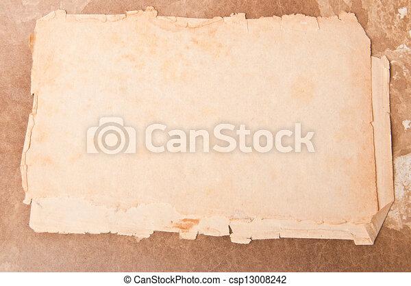papel, viejo - csp13008242