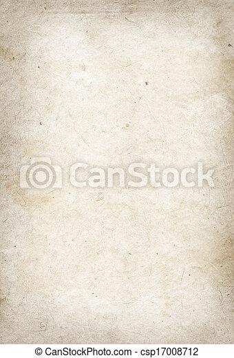 papel, viejo, pergamino, textura - csp17008712
