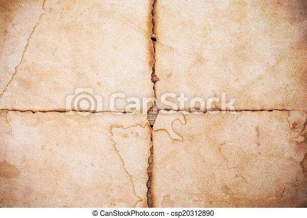 Vieja textura de papel - csp20312890