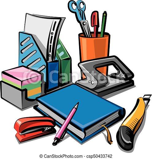 Papeler a estudiar conjunto ilustraci n oficina - Papeleria de oficina ...