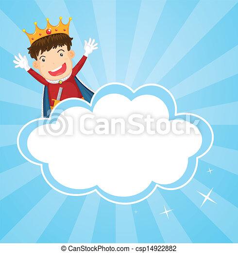 Un papel con un rey - csp14922882