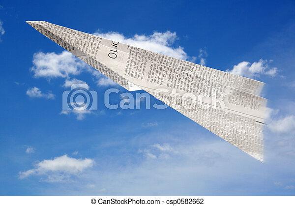 Paper Aeroplane - csp0582662