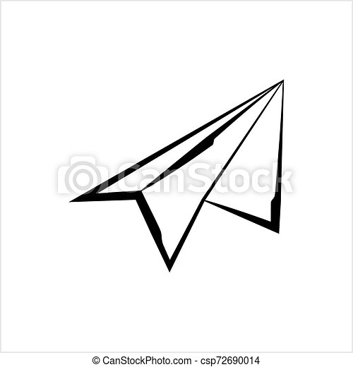 Paper Airplane Icon Vector Art Illustration