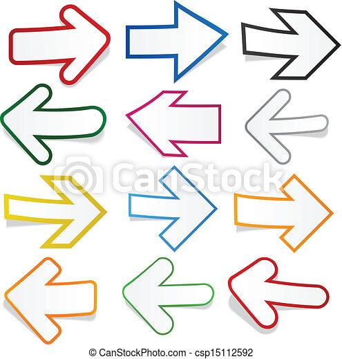Paper arrows.  - csp15112592