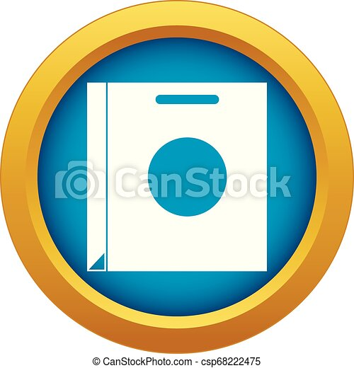 Paper bag icon blue vector isolated - csp68222475