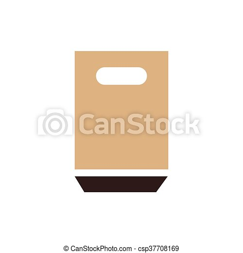 paper bag icon brown color - csp37708169