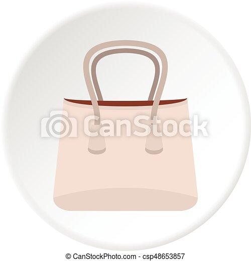 Paper bag icon circle - csp48653857