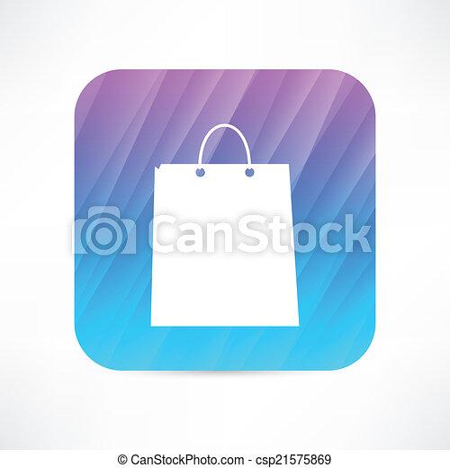 paper bag icon - csp21575869