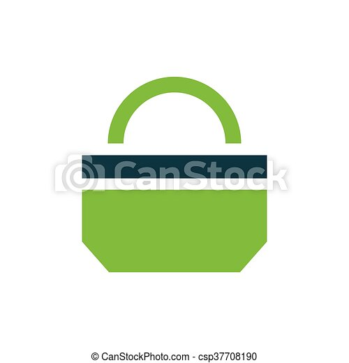 paper bag icon design green - csp37708190