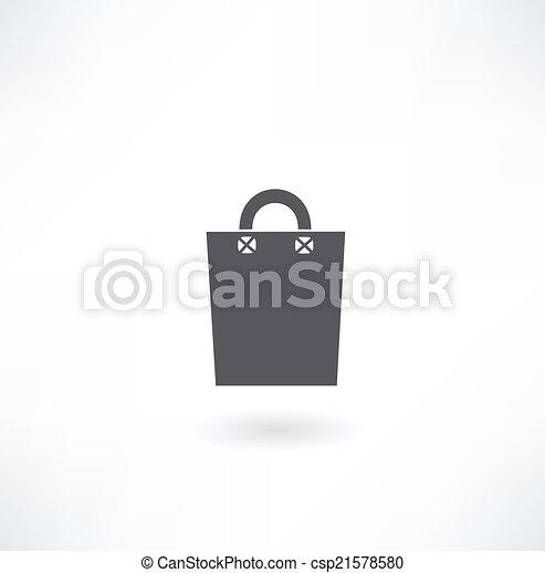 paper bag icon - csp21578580