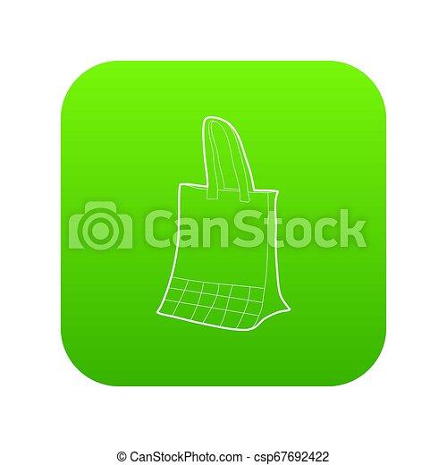 Paper bag icon green - csp67692422