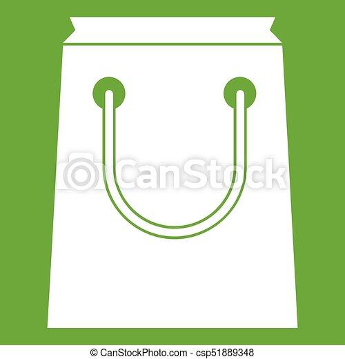 Paper bag icon green - csp51889348