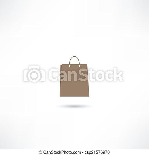 paper bag icon - csp21576970