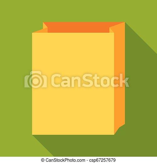 Paper bag icon - csp67257679