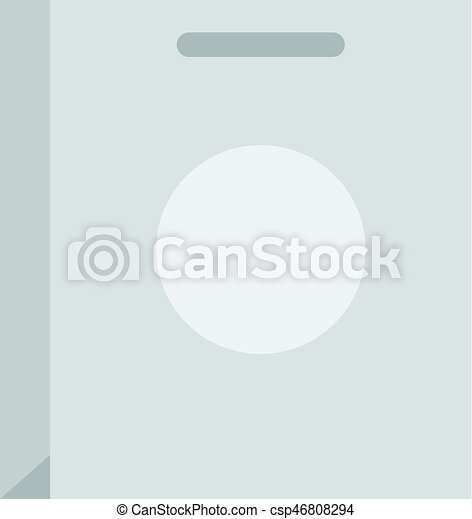 Paper bag icon isolated - csp46808294