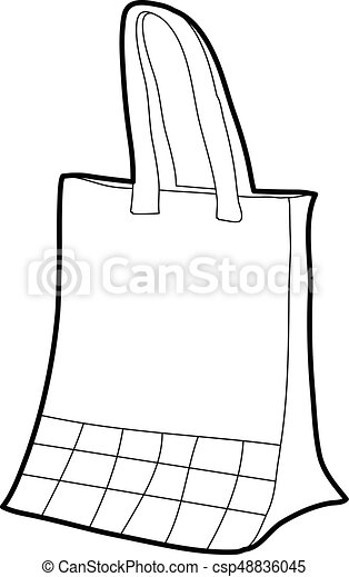 Paper bag icon outline - csp48836045