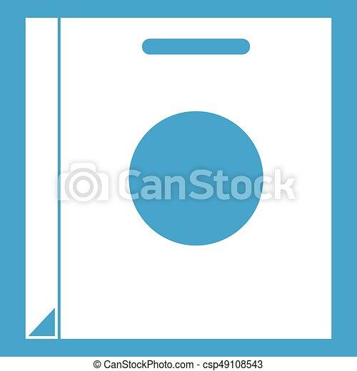 Paper bag icon white - csp49108543