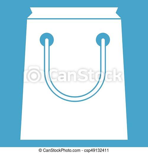 Paper bag icon white - csp49132411