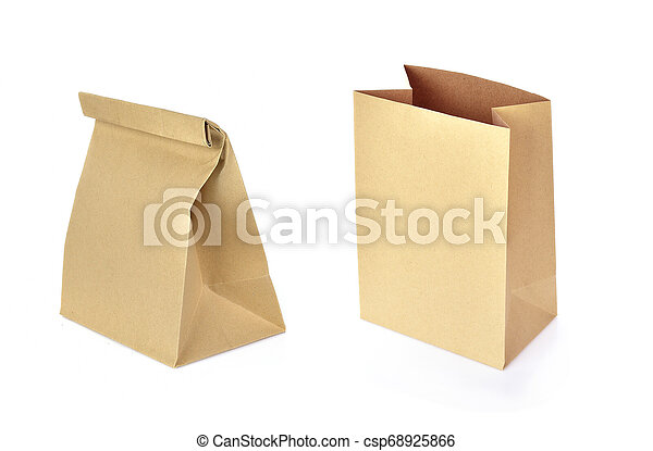 paper bag isolated on white background - csp68925866