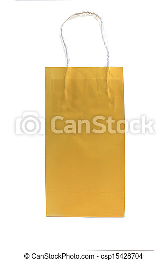 Paper bag isolated on white background - csp15428704