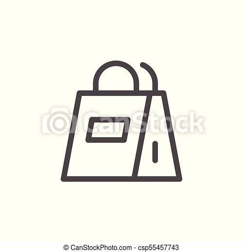 Paper bag line icon - csp55457743