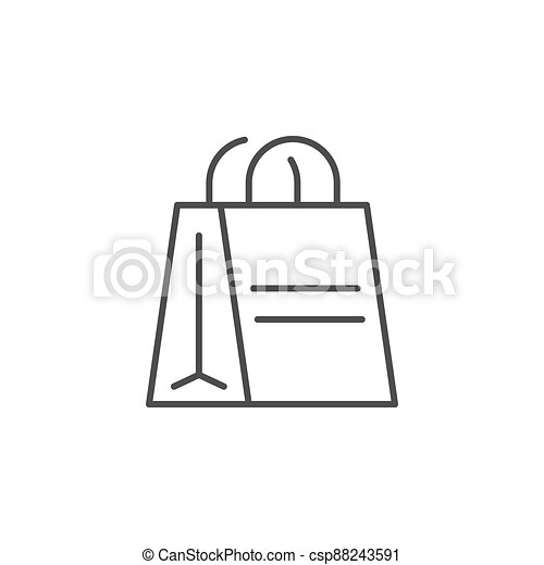 Paper bag line outline icon - csp88243591