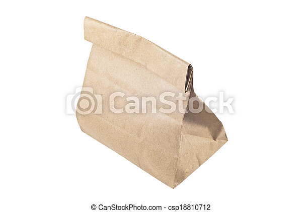 Paper bag on white background, isolated - csp18810712