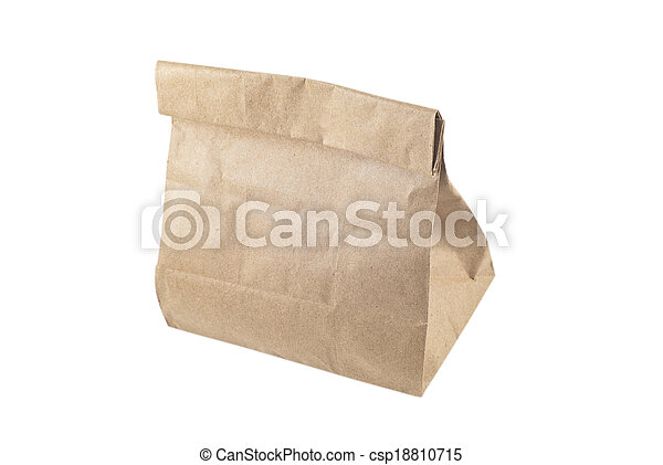 Paper bag on white background, isolated - csp18810715